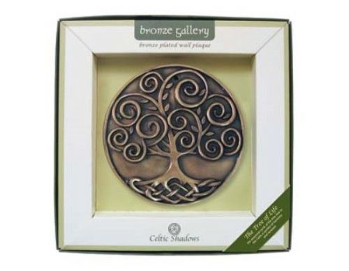 Irish Tree Of Life Bronze Plated Wall Plaque